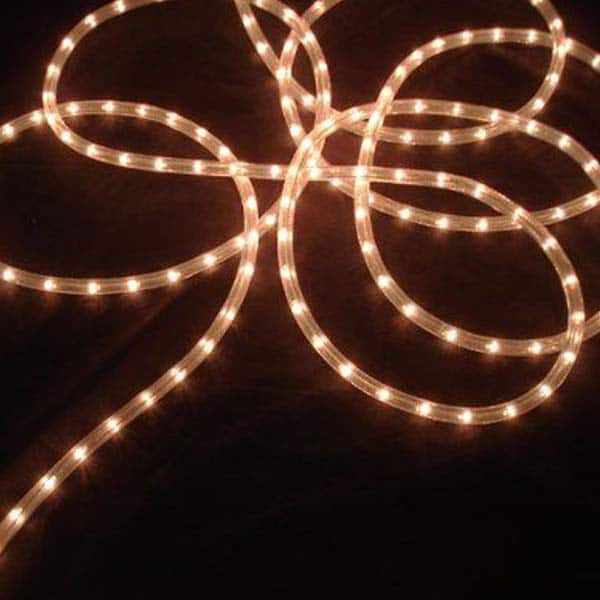 Clear 3/8-Inch Rope Lights