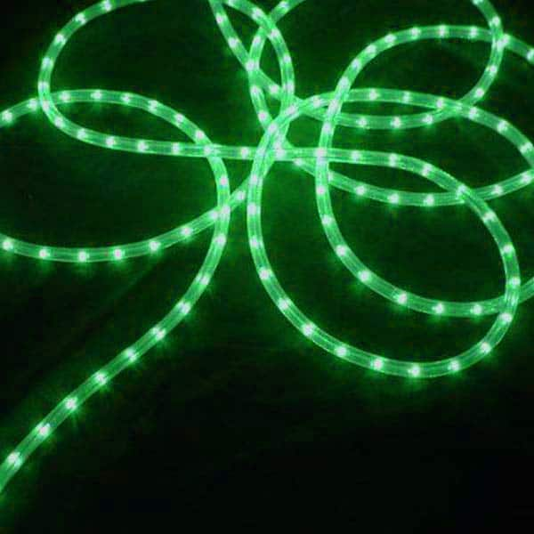 Green 3/8-Inch 100 Ft Rope Lights
