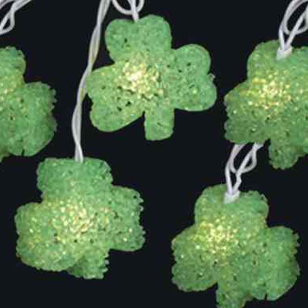 St. Patrick's Day Shamrock String Lights