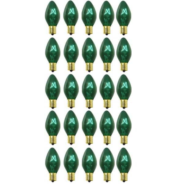 Green C9 Transparent Replacement Bulbs