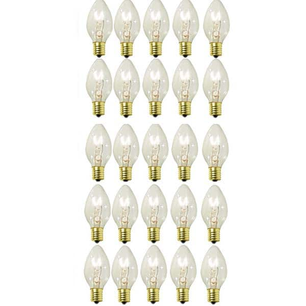 Clear C9 Transparent Twinkling Replacement Bulbs
