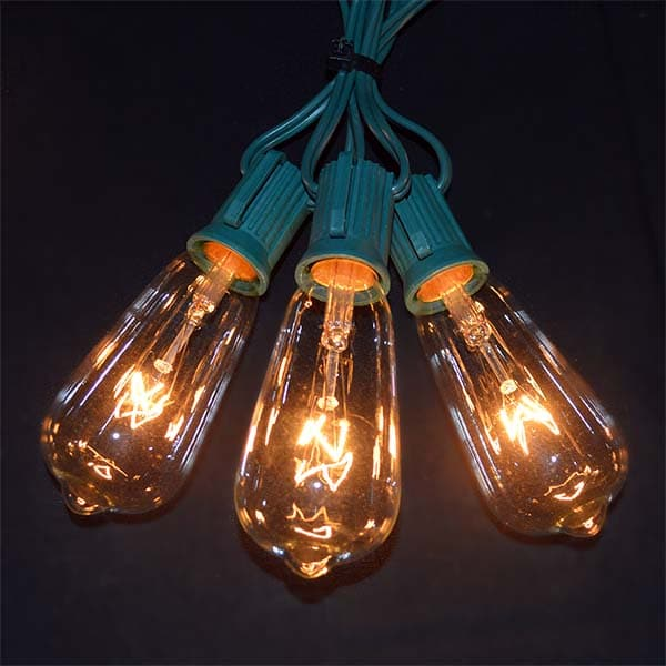 Glass Edison Lights String Set