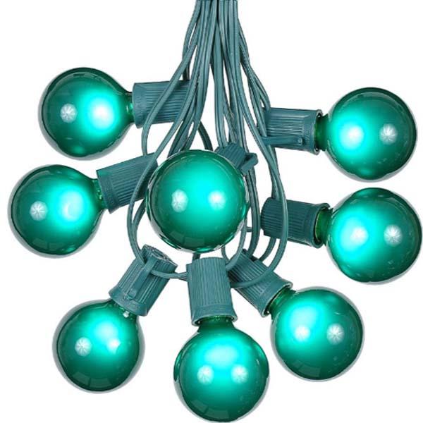 Green Globe Lights