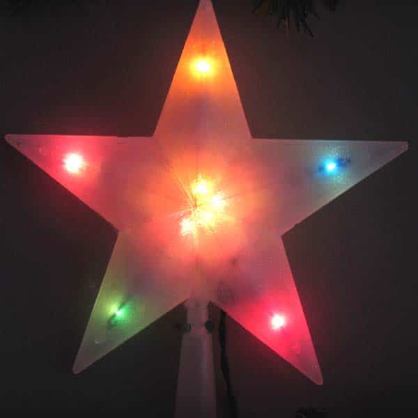Multi Colored Star Tree Topper