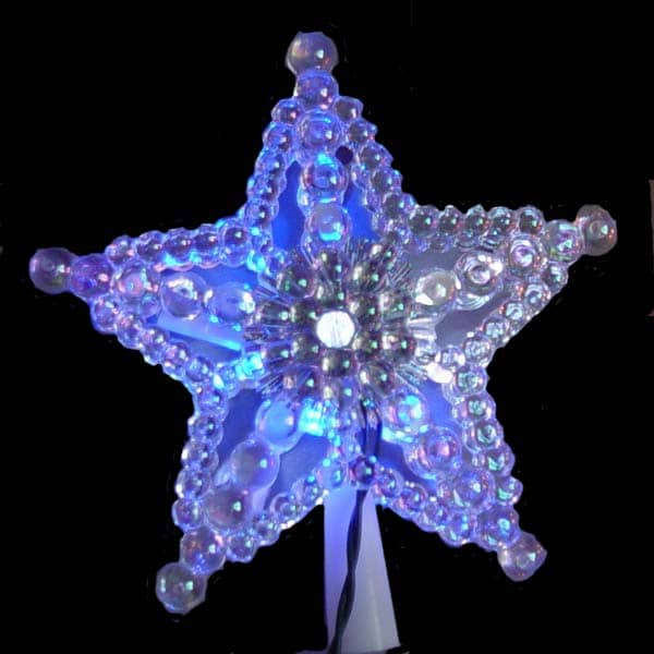 Morphing LED Laser Bead Star Tree Topper