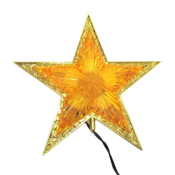 Double Sided Gold Star Tree Topper