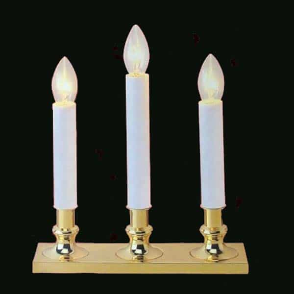 Clear Brass Candle Lights