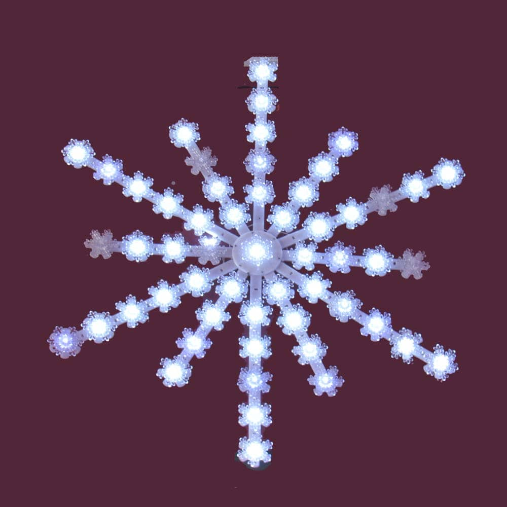 LED Twinkling Snowflake Light Decoration