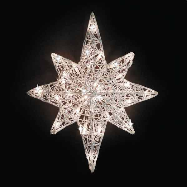 Twinkling Spunglass Bethlehem Star Light Decoration
