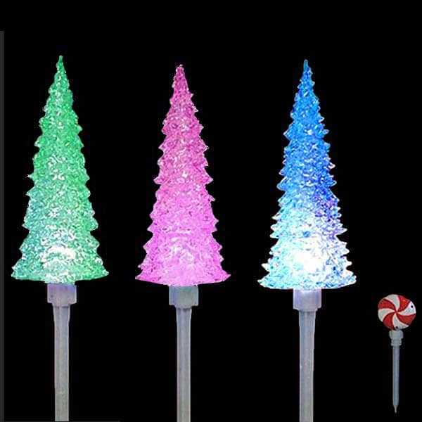 Color Changing Christmas Tree Stakes
