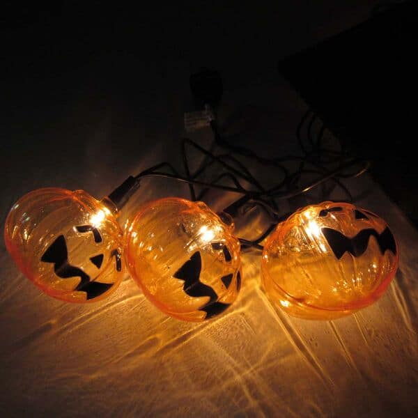 Reflector Pumpkin Lights String Set