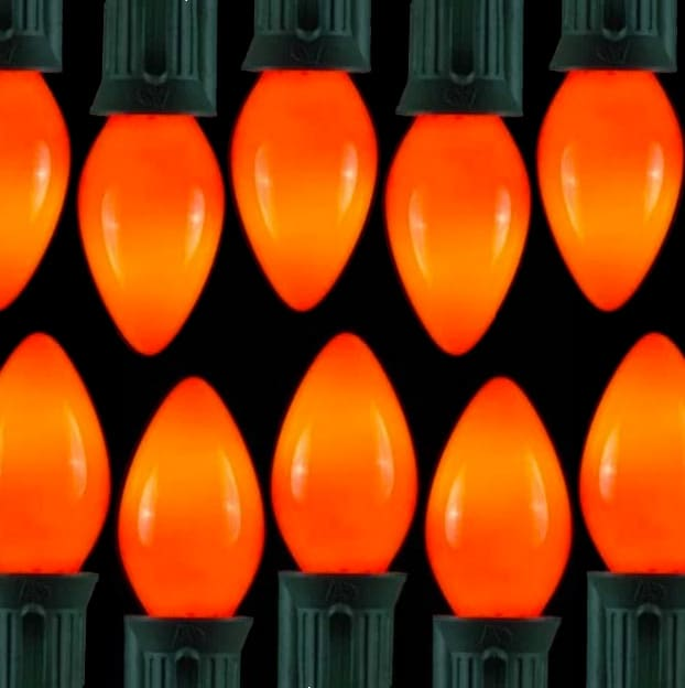 Opaque Ceramic Orange C7 Lights/C9 Lights