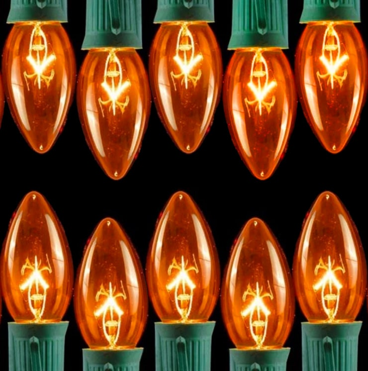 Transparent Orange C9 Lights