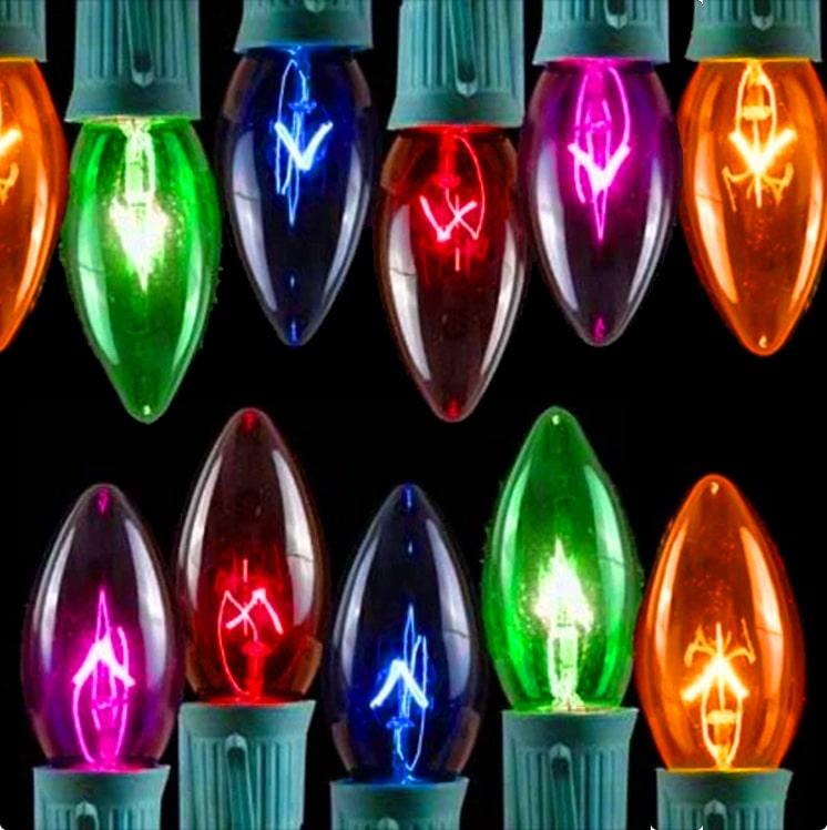 Multi-Color Transparent C9 Lights