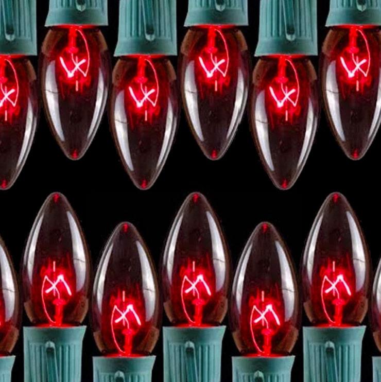 Transparent Red C9 Lights
