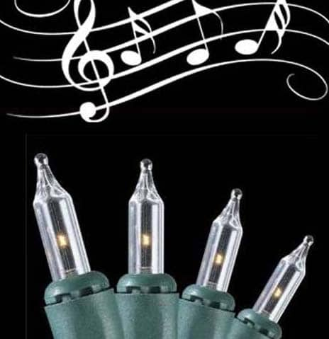 Clear Musical Christmas Lights