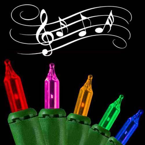 Multi-Colored Musical Christmas Lights
