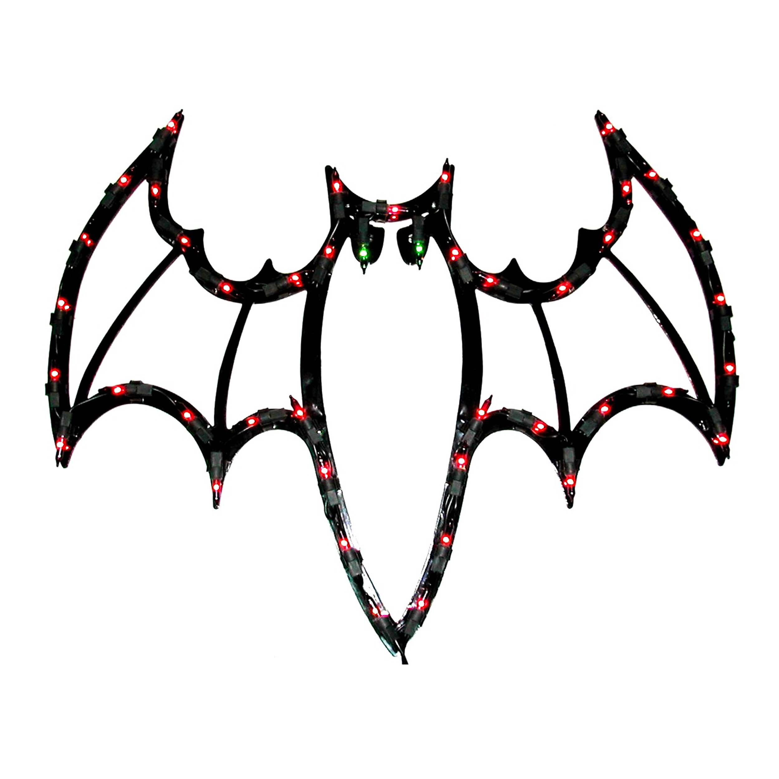 Halloween Bat Window Plaque Lights