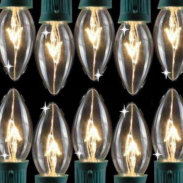 Transparent C9 Twinkling Lights