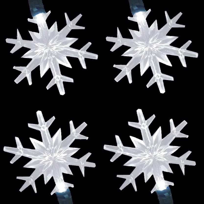LED Snowflake Lights String Set