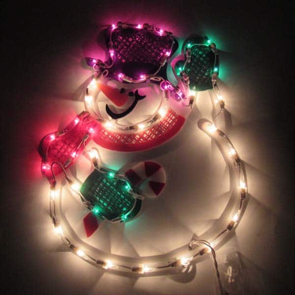 Snowman Plaque Light