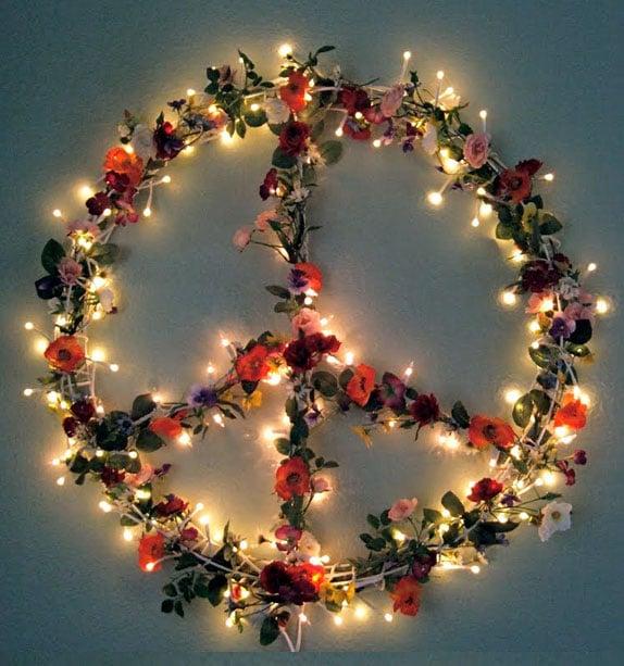 Peace Light Sign