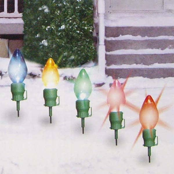 Hanging Jumbo Bulb Stakes Light Decorations