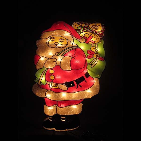 Sugar Coated Santa Plaque Light