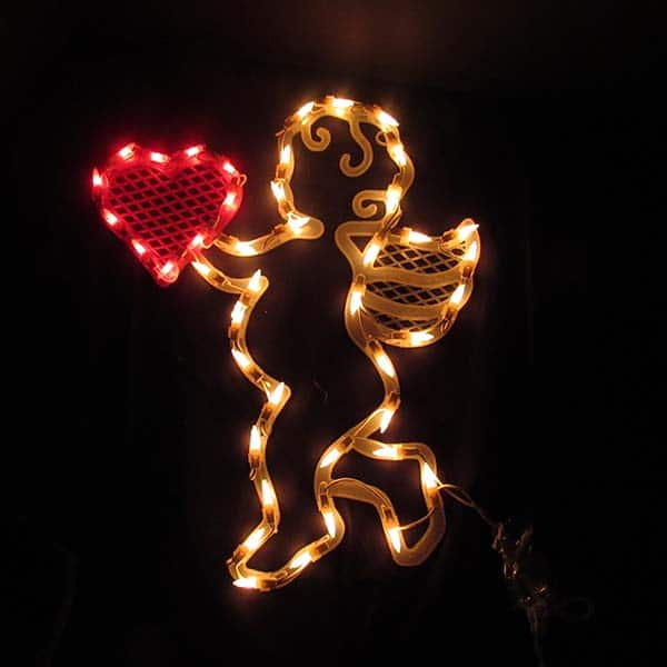 Cupid Window Plaque Lights