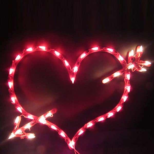 Lighted Arrow Window Plaque Lights