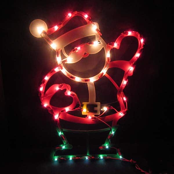 Waving Santa Plaque Light