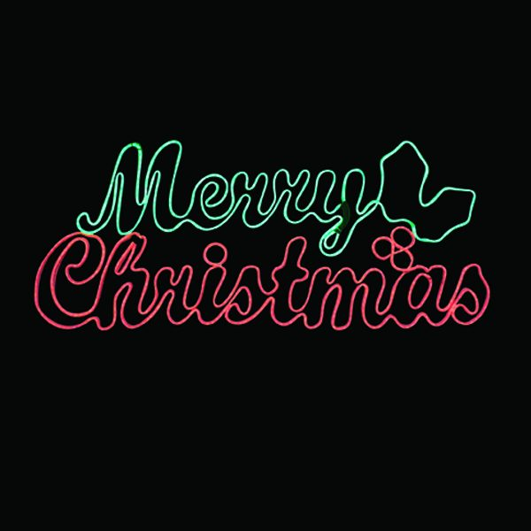 Neon Merry Christmas Sign