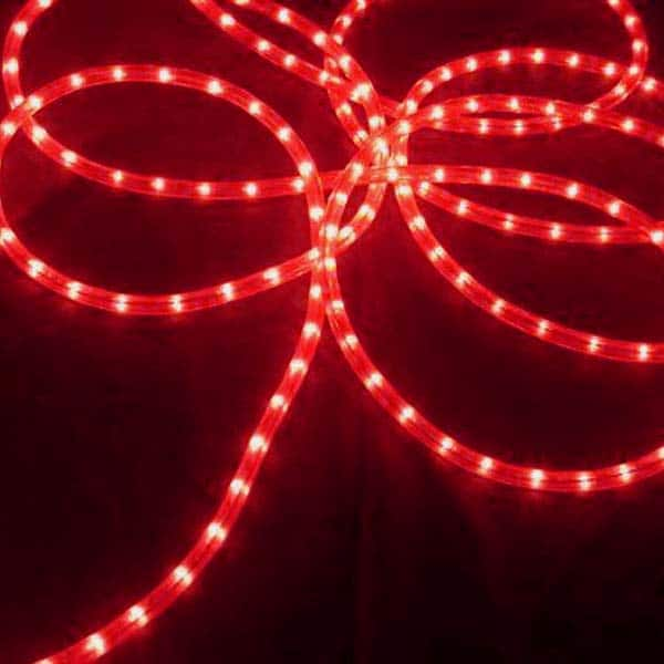 Red 3/8-Inch 100 Ft Rope Lights