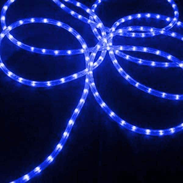 Blue 3/8-Inch 100 Ft Rope Lights