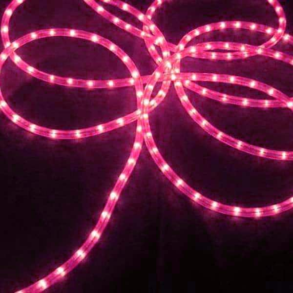 Pink 3/8-Inch 100 ft Rope Lights