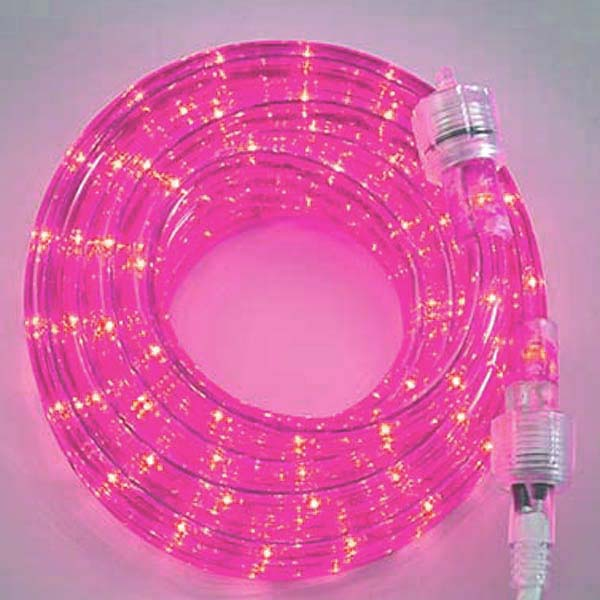 Pink 3/8 18Ft Rope Light