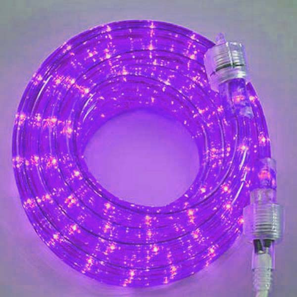 Purple 3/8 18Ft Rope Light