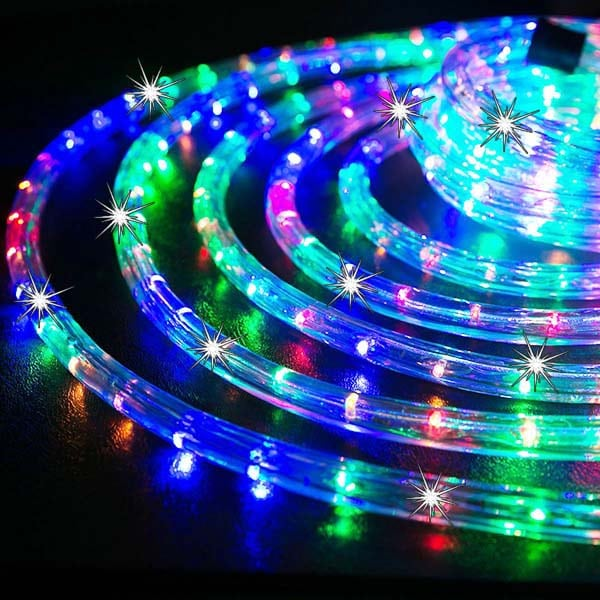 Twinkling led rope lights northern lights and trees twinkling led rope lights mozeypictures Images