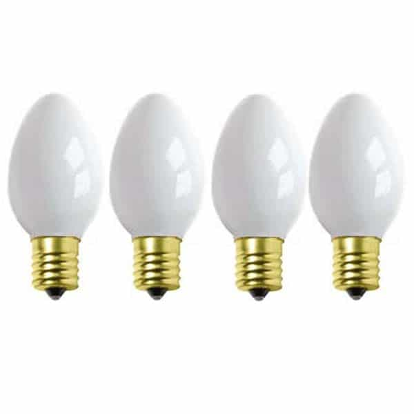 White C9 Ceramic Replacement Bulbs