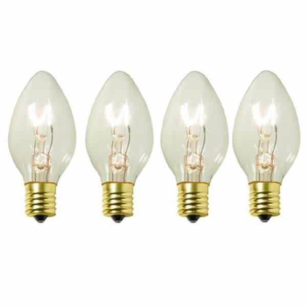 Clear C9 Transparent Replacement Bulbs