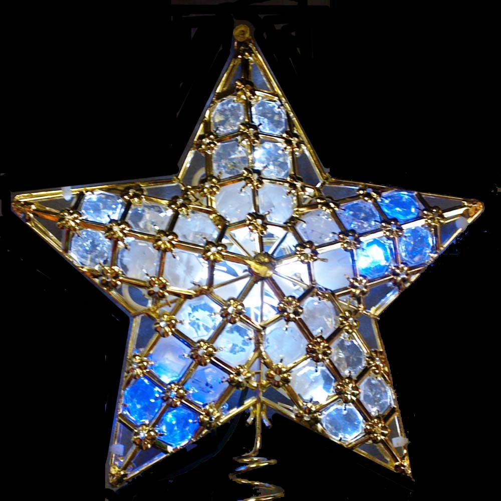 Steampunk Color Changing Star Tree Topper