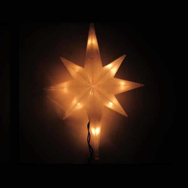 Magic White 8 Pt Star