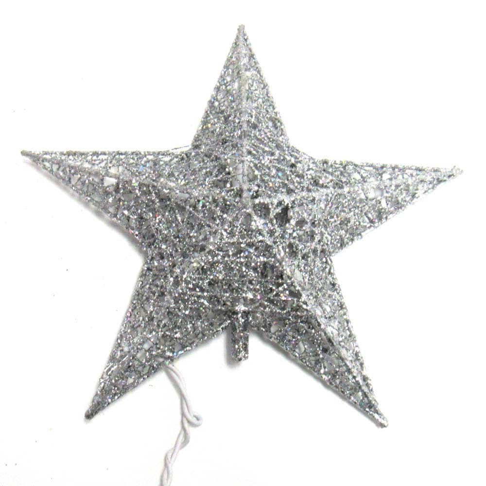 Glitter Star Tree Toppers