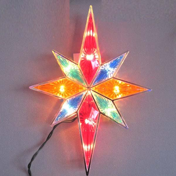Double Sided Bethlehem Star Tree Toppers