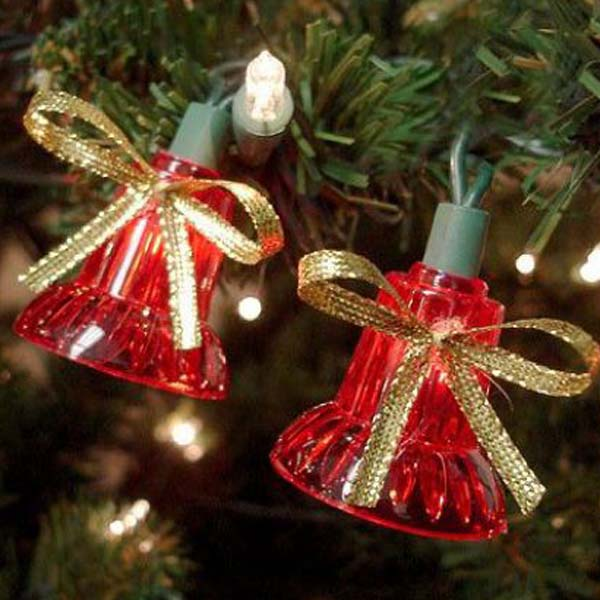musical bells christmas lights string set