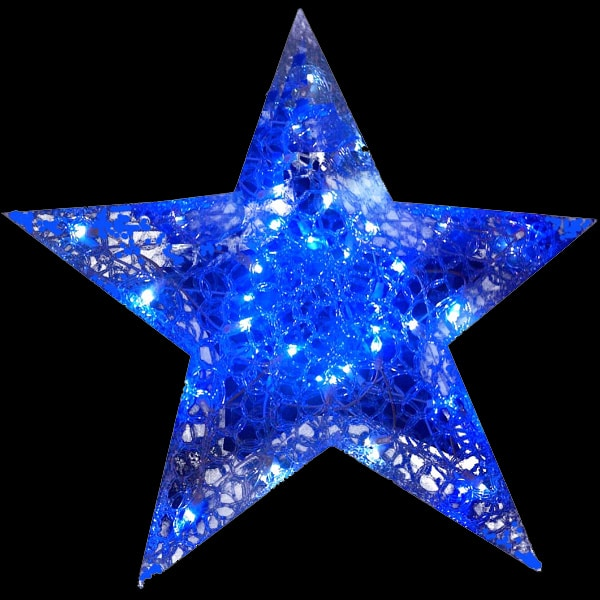 Morphing Spunglass Star Light Decoration