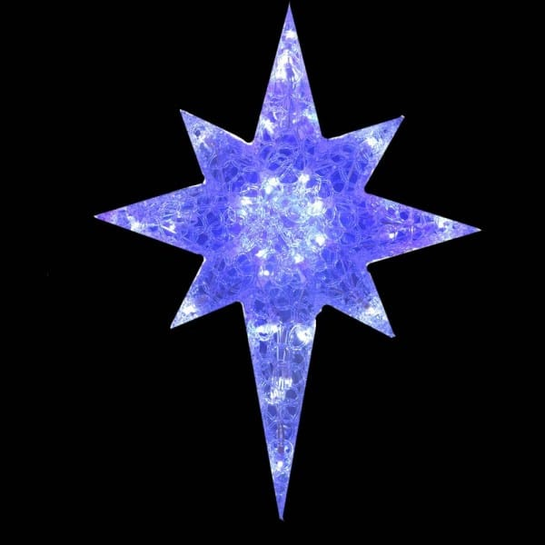 Morphing Spunglass Bethlehem Star Light Decoration