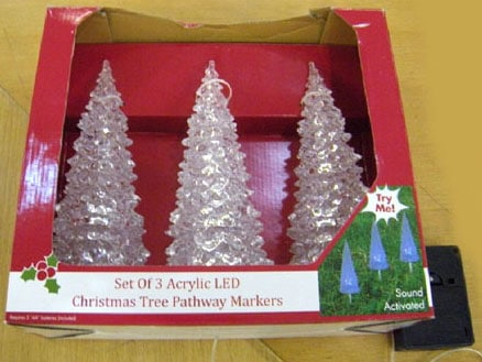 color changing christmas tree stakes northern lights and trees