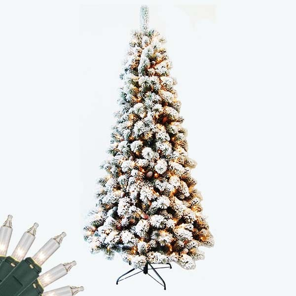 Flocked Colorado Pine Christmas Tree