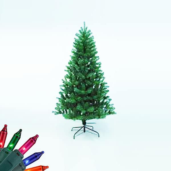Artificial pre-lit Christmas trees| Northern Lights and Trees